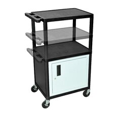 LP Carts Series AV Cart with Cabinet/Electric