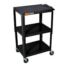 H Wilson Adjustable Height AV Cart