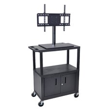 AV Cart with Universal LCD TV Mount and Cabinet