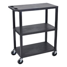Fixed Height Presentation AV Cart with 3 Shelves
