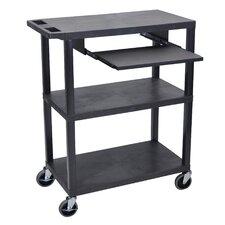 Presentation AV Cart with Pullout Shelf