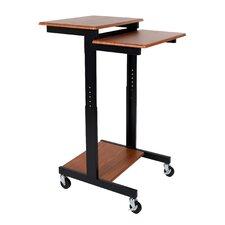 Adjustable Height Presentation Workstation AV Cart