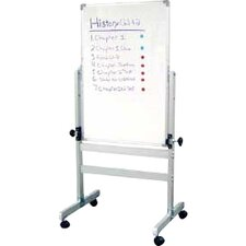 Double Sided Adjustable Magnetic Reversible Whiteboard, 3' H x 2' W
