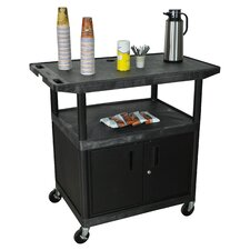 Wide Top Coffee Cart with Cabinet