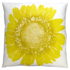 Flora Daisy Linen Throw Pillow