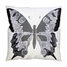 Entomology Butterfly Linen Throw Pillow