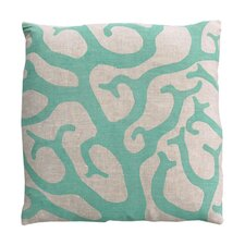 Coral Linen Throw Pillow