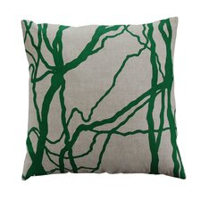 Flora Vine Linen Throw Pillow