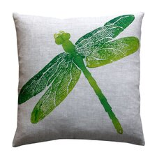 Entomology Dragon Fly Linen Throw Pillow