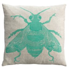 Bee Linen Throw Pillow