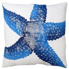Starfish Linen Throw Pillow