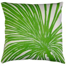 Flora Palm Zoom Linen Throw Pillow