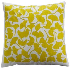 Flora Ginkgo Linen Throw Pillow