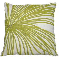 Flora Palm Linen Throw Pillow