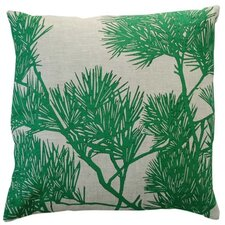 Flora Pine Bough Linen Throw Pillow