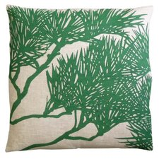 Fllora Pine Bough Zoom Linen Throw Pillow