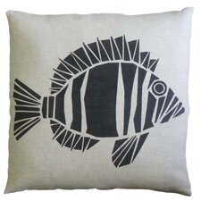 Skandia Fisk Linen Throw Pillow