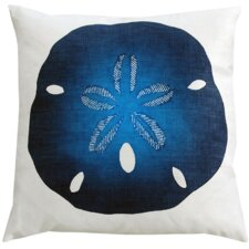 Sand Dollar Linen Throw Pillow