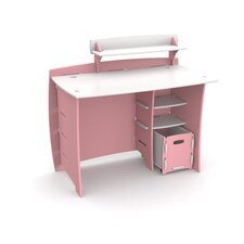 "Princess 43"" Writing Desk with Accessory Shelves and File Cart"