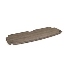 "Driftwood 0.5"" H x 24"" W Desk Spare Shelf"