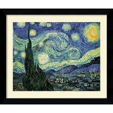 'The Starry Night' by Vincent Van Gogh Framed Painting Print