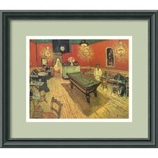 'Night Cafe with Pool Table' by Vincent Van Gogh Framed Painting Print