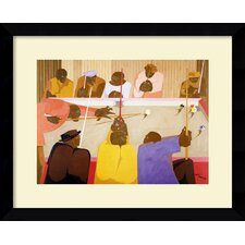 'The Pool Game' by Jacob Lawrence Framed Painting Print