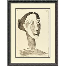 'Head of a Woman with a Chignon' by Pablo Picasso Framed Painting Print