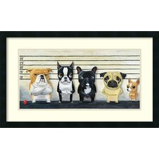 'The Lineup' by Brian Rubenacker Framed Graphic At