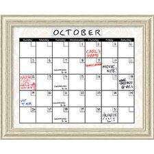 Damask Calendar/Planner Dry Erase Board