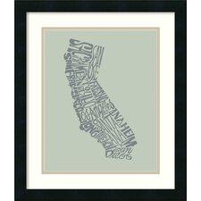 'California II' by L.A. Pop Art Framed Textual Art