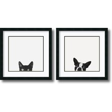 """Curiosity and Loyalty"" by Jon Bertelli 2 Piece Framed Photographic Print Set"
