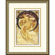 Dance, 1898 by Alphonse Mucha Framed Painting Print
