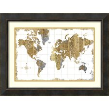 Gilded Map by Michael Mullan Framed Painting Print