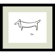 """Le Chien (The Dog)"" by Pablo Picasso Framed Painting Print"