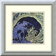 'Feminine Wave' by Katsushika Hokusai Framed Painting Print