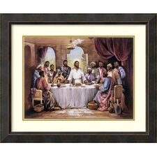'The Last Supper' by Quintana Framed Painting Print