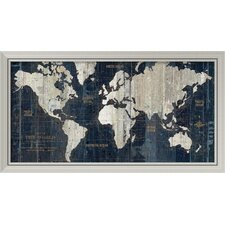 'Old World Map' by Wild Apple Portfolio Framed Graphic Art