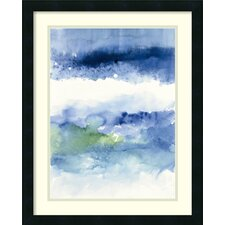 'Midnight at The Lake' by Mike Schick Framed Painting Print