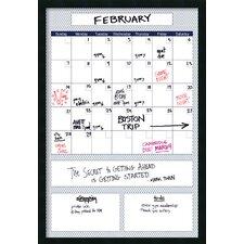 Mezzanotte Quatrefoil Big Dry-Erase Calendar Whiteboard, 3' H x 2' W