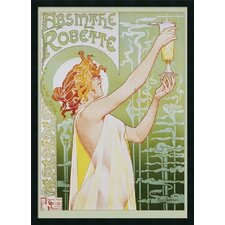 Absinthe Robette Framed Vintage Advertisment