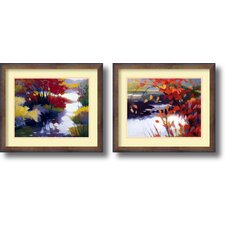 'Water and Color' by Tadashi Asoma 2 Piece Framed Painting Print Set