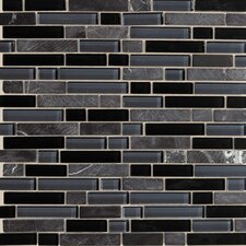 Legacy Random Sized Glass Mosaic Tile in Mountain Blend