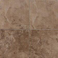 """Pozzalo 12"""" x 12"""" Ceramic Field Tile in Weathered Noce"""