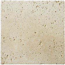 "Natural Stone 4"" x 4"" Travertine Field Tile in Ivory Classic"