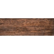 """Country 8"""" x 24"""" Porcelain Wood Tile in Brown"""