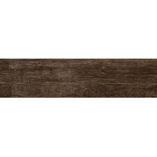 """Country 6"""" x 24"""" Porcelain Wood Tile in Brown"""