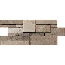 Random Sized Slate Mosaic Tile in Brown