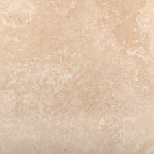 "16"" x 16"" Travertine Field Tile in Ivory"