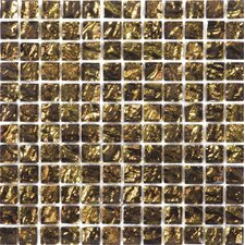 Vista Glass Mosaic Tile in Gold